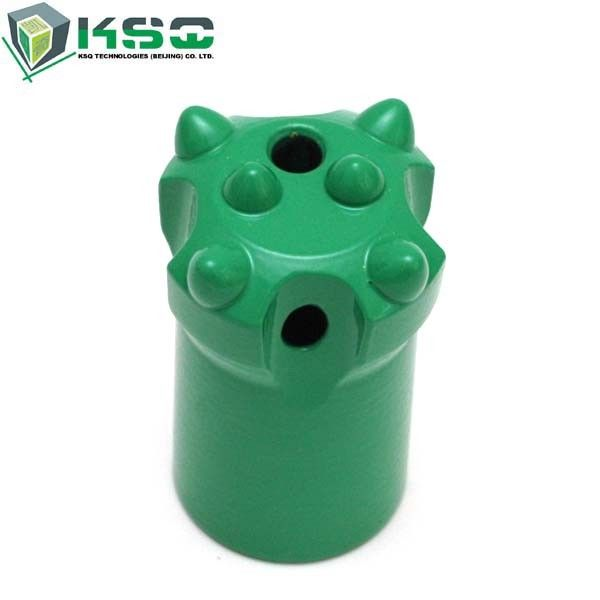 Green Alloy Steel Tapered Industrial Drill Bits Long Skirt Dia 32 - 41mm