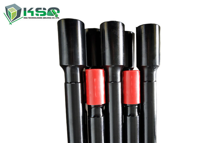 Mining Threaded Drill Rod Rock Drill Rods Forging 600 - 6095mm Length Black Color