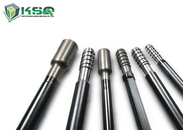 R32 R38 T38 Round and Hex Threaded Drill Rod For Short Hole Drilling / Tunneling