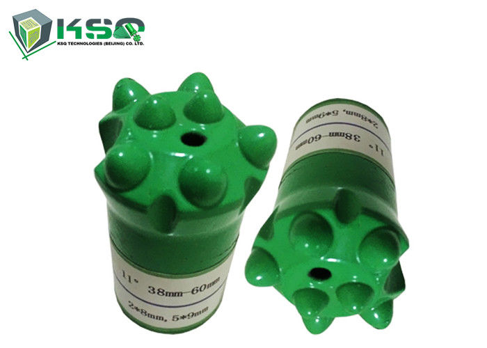 7 Button Tapered Button Drill Bit With Long / Short Skirt Rock Drilling Tool
