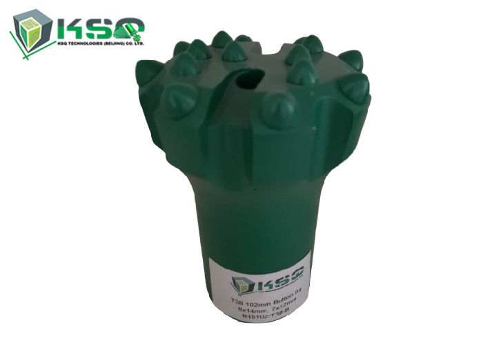 T38 102mm Button Drill Bit High Strength Chromium Molybdenum Steel